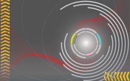 αφηρημένος κύκλος ανασκό&p διανυσματική απεικόνιση
