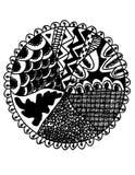 αφηρημένος κύκλος ανασκό&p στοκ εικόνα