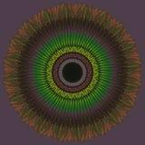 αφηρημένος κύκλος προτύπων Πράσινη και πορτοκαλιά διακόσμηση Στοκ Εικόνες