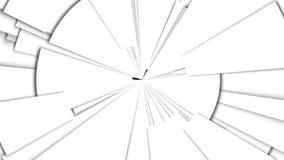 Αφηρημένος μονοχρωματικός γεωμετρικός περιστρεφόμενος βρόχος παλετών διανυσματική απεικόνιση