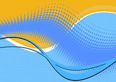 αφηρημένος μπλε κυματιστ Στοκ εικόνες με δικαίωμα ελεύθερης χρήσης