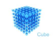 αφηρημένος μπλε κύβος Στοκ φωτογραφία με δικαίωμα ελεύθερης χρήσης