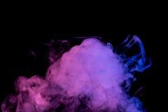 Αφηρημένος μπλε ιώδης καπνός Weipa Στοκ Εικόνες