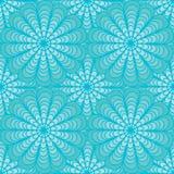 αφηρημένος μπλε floral άνευ ραφή& Στοκ Φωτογραφία