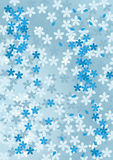 αφηρημένος μπλε floral ανασκόπη& Στοκ Εικόνες
