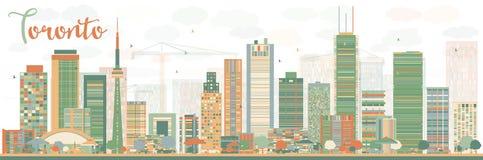Αφηρημένος ορίζοντας του Τορόντου με τα κτήρια χρώματος Στοκ εικόνες με δικαίωμα ελεύθερης χρήσης