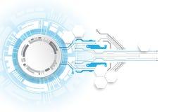 Αφηρημένος πίνακας κυκλωμάτων τεχνολογίας μαύρο τηλέφωνο δεκτών έννοιας επικοινωνίας απεικόνιση αποθεμάτων