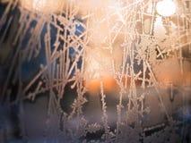 αφηρημένος παγετός ανασκό& Στοκ Φωτογραφίες