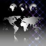 Αφηρημένος παγκόσμιος χάρτης με τη σκιά Παγκόσμιες σφαίρες Στοκ Φωτογραφία