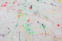Αφηρημένος παφλασμός χρωμάτων watercolor στο υπόβαθρο πατωμάτων Στοκ φωτογραφίες με δικαίωμα ελεύθερης χρήσης