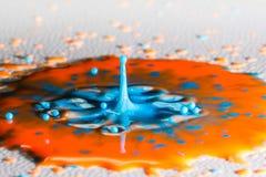 Αφηρημένος παφλασμός χρώματος Στοκ φωτογραφίες με δικαίωμα ελεύθερης χρήσης