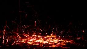 Αφηρημένος παφλασμός νερού θερμότητας χρώματος πυρκαγιάς απόθεμα βίντεο