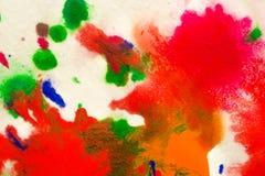 αφηρημένος παφλασμός σημείων των φωτεινών χρωμάτων στη μακροεντολή της Λευκής Βίβλου Στοκ Εικόνα