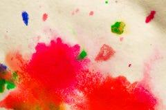 αφηρημένος παφλασμός σημείων των φωτεινών χρωμάτων στη μακροεντολή της Λευκής Βίβλου Στοκ φωτογραφίες με δικαίωμα ελεύθερης χρήσης