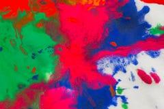 αφηρημένος παφλασμός σημείων των φωτεινών χρωμάτων στη μακροεντολή της Λευκής Βίβλου Στοκ φωτογραφία με δικαίωμα ελεύθερης χρήσης