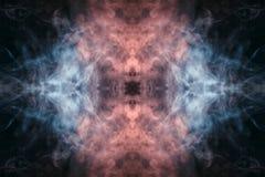 Αφηρημένος παχύς χρωματισμένος καπνός σε ένα μαύρο υπόβαθρο με ένα monste διανυσματική απεικόνιση