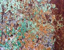 αφηρημένος παλαιός σκουριασμένος μετάλλων ανασκόπησης Στοκ Φωτογραφίες