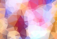 Αφηρημένος πολύχρωμος μπλε, κίτρινος, πορτοκαλής γεωμετρικός το τριγωνικό χαμηλό πολυ γραφικό υπόβαθρο απεικόνισης κλίσης ύφους V διανυσματική απεικόνιση