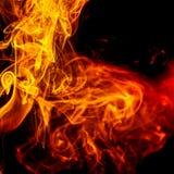 Αφηρημένος πορτοκαλής καπνός από τα αρωματικά ραβδιά Στοκ Φωτογραφίες