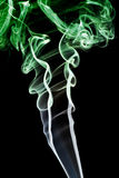 αφηρημένος πράσινος καπνός Στοκ φωτογραφία με δικαίωμα ελεύθερης χρήσης