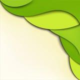 αφηρημένος πράσινος κυματιστός ανασκόπησης Στοκ εικόνες με δικαίωμα ελεύθερης χρήσης