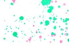 Αφηρημένος πράσινος κόκκινος παφλασμός μελανιού Στοκ Εικόνες