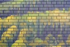 Αφηρημένος πράσινος τουβλότοιχος Στοκ Εικόνες