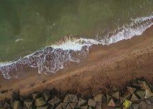 Αφηρημένος πυροβολισμός της ακτής της θάλασσας της Βαλτικής Στοκ Εικόνα