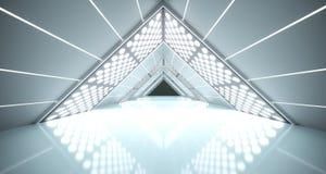 Αφηρημένος ρεαλιστικός διάδρομος του Sci Fi τριγώνων Στοκ Εικόνες