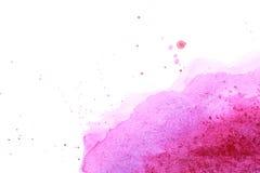 Αφηρημένος ρόδινος λεκές watercolor Στοκ φωτογραφίες με δικαίωμα ελεύθερης χρήσης