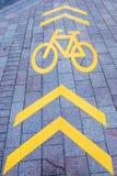 αφηρημένος δρόμος σημαδιών ανασκόπησης οδός μονοπατιών palanga ποδηλάτων basanaviciaus Στοκ Φωτογραφία