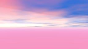 αφηρημένος ρόδινος ουρανός Στοκ Φωτογραφίες