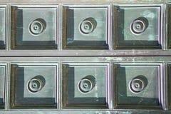 Αφηρημένος σκουριασμένος ορείχαλκος καφετιά κλειστή ρόπτρα Λομβαρδία Busto Στοκ φωτογραφίες με δικαίωμα ελεύθερης χρήσης