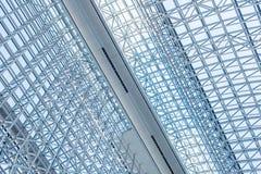 Αφηρημένος στενός επάνω σύγχρονου εσωτερικού αρχιτεκτονικού Στοκ Εικόνες
