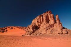 Αφηρημένος σχηματισμός βράχου σε Tamezguida στο εθνικό πάρκο Tassili nAjjer, Αλγερία Στοκ Εικόνα