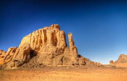 Αφηρημένος σχηματισμός βράχου σε Tamezguida στο εθνικό πάρκο Tassili nAjjer, Αλγερία Στοκ Φωτογραφίες