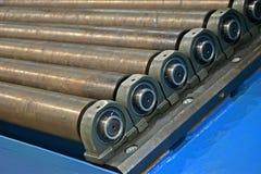 Αφηρημένος σωρός κυλίνδρων μετάλλων, λεπτομέρειες βιομηχανίας, Στοκ φωτογραφία με δικαίωμα ελεύθερης χρήσης