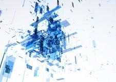 Αφηρημένος σύγχρονος μπλε τοίχος του κτιρίου γραφείων Στοκ φωτογραφίες με δικαίωμα ελεύθερης χρήσης