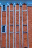 Αφηρημένος σύγχρονος τουβλότοιχος του επιχειρησιακού κτηρίου Παλαιό πορτοκάλι Στοκ εικόνες με δικαίωμα ελεύθερης χρήσης
