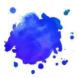 Αφηρημένος τέχνης λεκές Watercolor χεριών απομονωμένος χρώμα στο άσπρο υπόβαθρο Έμβλημα Watercolor Στοκ Εικόνα