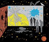 Αφηρημένος τοίχος των τούβλων διανυσματική απεικόνιση