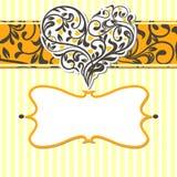 αφηρημένος τρύγος καρδιών καρτών διανυσματική απεικόνιση