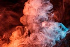 Αφηρημένος τυρκουάζ πορτοκαλής καπνός Weipa Στοκ φωτογραφίες με δικαίωμα ελεύθερης χρήσης