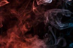 Αφηρημένος τυρκουάζ πορτοκαλής καπνός Weipa Στοκ Εικόνες