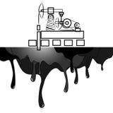 Αφηρημένος φορτωτήρας πετρελαίου απεικόνισης υποβάθρου, τύποι πετρελαίων, εικονίδιο στατιστικών Στοκ Εικόνες
