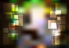 Αφηρημένος φωτεινός ακτινοβολεί υπόβαθρο με το τετράγωνο Στοκ Φωτογραφία