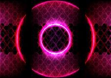Αφηρημένος φωτισμός κύκλων και hexagon τεχνολογία υποβάθρου ελεύθερη απεικόνιση δικαιώματος
