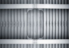 αφηρημένος χάλυβας κατασκευής μπουλονιών ακτίνων Στοκ εικόνα με δικαίωμα ελεύθερης χρήσης