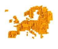 Αφηρημένος χάρτης κύβων διανυσματική απεικόνιση