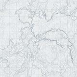 Αφηρημένος χάρτης περιγράμματος με τη διαφορετική ανακούφιση Τοπογραφική διανυσματική απεικόνιση για τη ναυσιπλοΐα απεικόνιση αποθεμάτων